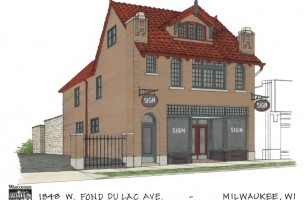 Architectural Rendering of Historic Walter Schmidt Tavern Development